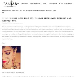 Bridal Nose Ring 101: Tips for Brides with Piercing and Without One - Panjab Jewelry