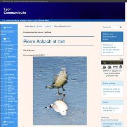 Pierre Achach et l'art - Lyon Communiqués