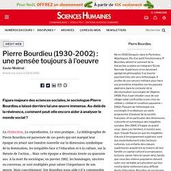 Pierre Bourdieu (1930-2002) : une pensée toujours à l'oeuvre