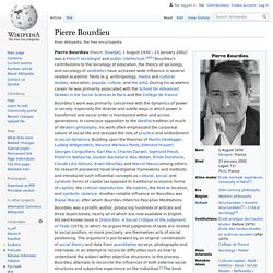 Pierre Bourdieu - Wikipedia