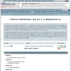 Pierre Chatelier: De C++ à Objective-C - Club des décideurs et p
