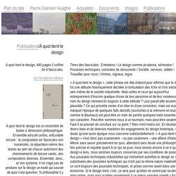 Pierre-Damien Huyghe Publications À quoi tient le design