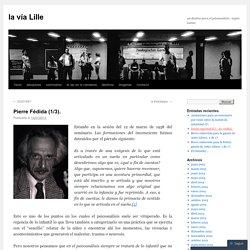 Pierre Fédida (1/3).