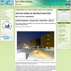 Lycée Pierre Gilles de Gennes à Digne les Bains - Accueil du site