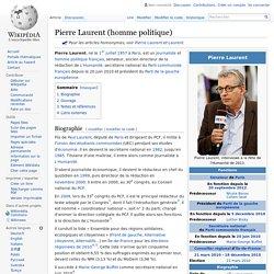 Pierre Laurent (homme politique)