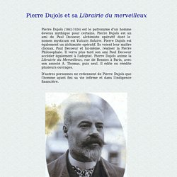 Pierre Dujols et la librairie du Merveilleux