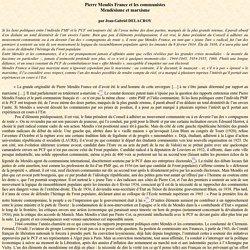 Pierre Mendès France et les communistes