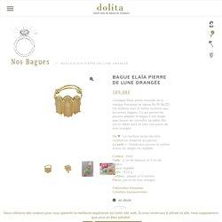 Bague pierre de lune orangée - Dolita select store de bijoux fantaisie FR