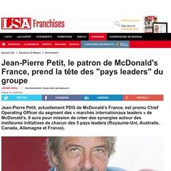 Jean-Pierre Petit, le patron de McDonald's...