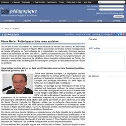 Pierre Merle : Polémiques et fake news scolaires