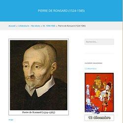 Pierre de Ronsard (1524-1585)