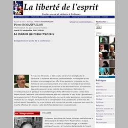 Pierre ROSANVALLON - La liberté de l'esprit