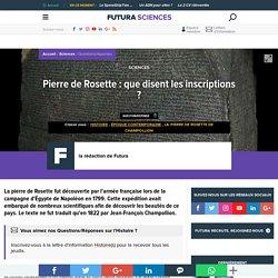 Pierre de Rosette : que disent les inscriptions ?