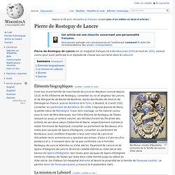 Pierre de Rosteguy de Lancre Magistrat