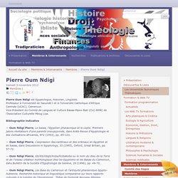 Pierre Oum Ndigi - Université Populaire Méroë-Africa