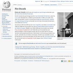 Piet Drenth tevens betroken bij Stapel onderzoek