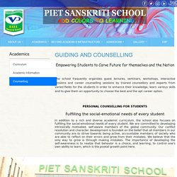 GUIDING AND COUNSELLING