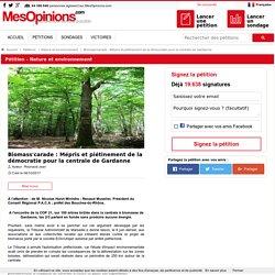 Pétition : Biomass'carade : Mépris et piétinement de la démocratie pour la centrale de Gardanne