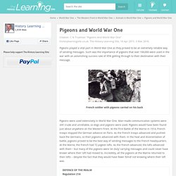 Pigeons and World War One - History Learning Site
