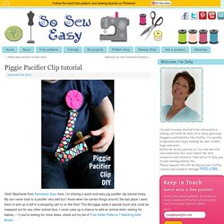 Piggie Pacifier clip tutorial