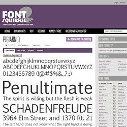 Free Font Pigiarniq by Tiro Typeworks