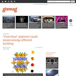 """Cool blue"" pigment could boost energy efficient building"