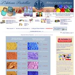 pigments purs, pigments naturels issus de terres et végétaux
