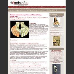 Des pigments utilisés par Neanderthal il y a 50 000 ans - Homini