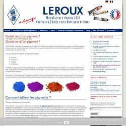 Pigments organiques et minéraux : Qu'est qu'un pigment ?