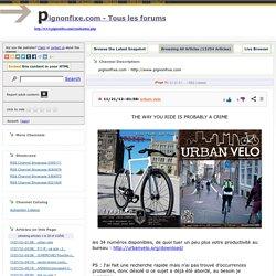 pignonfixe.com - Tous les forums