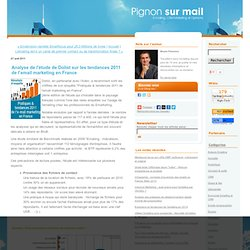 Analyse de l'étude de Dolist sur les tendances 2011 de l'email marketing en France
