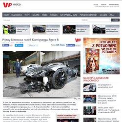 Pijany kierowca rozbił Koenigsegga Agera R