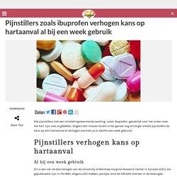 Pijnstillers zoals ibuprofen verhogen kans op hartaanval al bij een week gebruik – GoedGezond