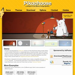PikaChoose - An easy jQuery Slideshow Plugin