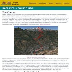 Pikes Peak Ascent and Marathon: Course Info