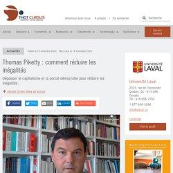 Thomas Piketty : comment réduire les inégalités - Thot Cursus