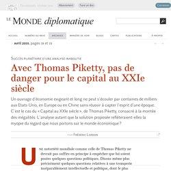 Avec Thomas Piketty, pas de danger pour le capital au XXIe siècle, par Frédéric Lordon (Le Monde diplomatique, avril 2015)