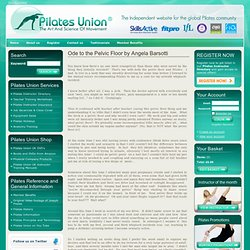Pilates News and Articles: Ode to the Pelvic Floor by Angela Barsotti