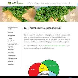 Les 3 piliers du développement durable - Green Economy