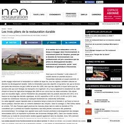 Les 3 piliers de la restauration durable neorestauration.com