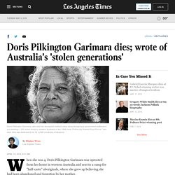Doris Pilkington Garimara obituary; 'Rabbit Proof-Fence' author