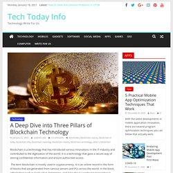 A Deep Dive into Three Pillars of Blockchain Technology - Tech Today Info