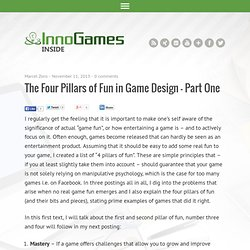 The Four Pillars of Fun in Game Design – Part One