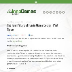 The Four Pillars of Fun in Game Design – Part Three
