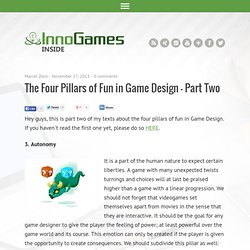 The Four Pillars of Fun in Game Design – Part Two