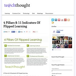 4 Pillars & 11 Indicators Of Flipped Learning
