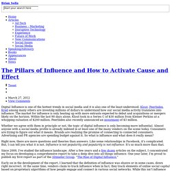 The Pillars of Influence and How to Activate Cause and Effect