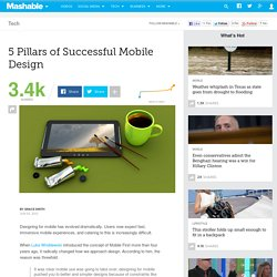 5 Pillars of Successful Mobile Design
