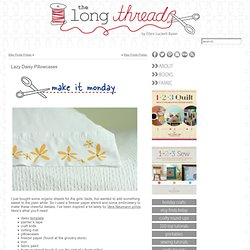 Lazy Daisy Pillowcases