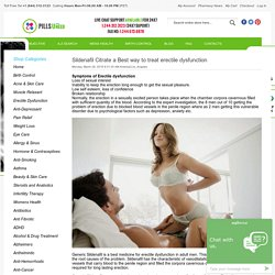 PillsUneed Generic Medicine Store, Men's health, women's health care Blog - Sildenafil Citrate a Best way to treat erectile dysfunction